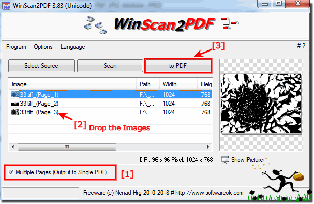 Program with which you can transform JPG into PDF