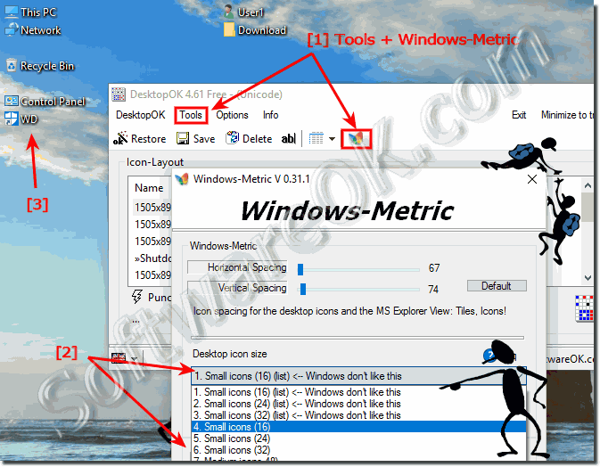 Change Windows Desktop Icon Size and View!
