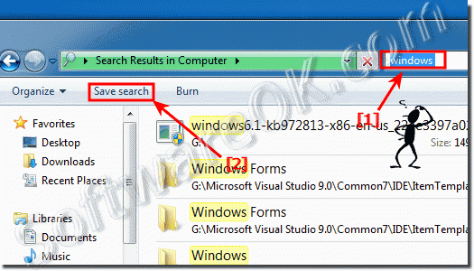 How to Save and Open Searches in Windows 7