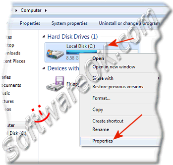 Start the Disk Defragmenter in Windows 7