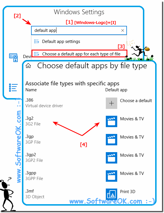 File associations in Windows 10, default apps by file type!