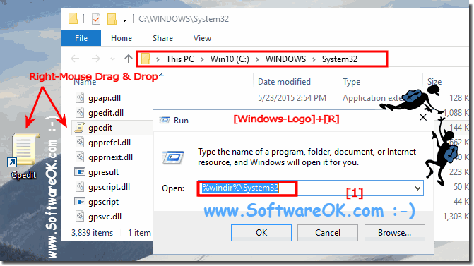 Local Group Policy Editor folder and desktop shortcut!