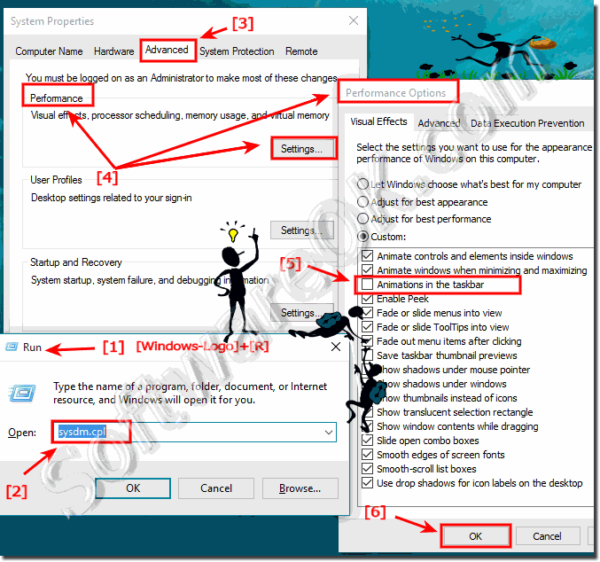 Turn-Off the Animations in the Windows-10 Task-Bar!