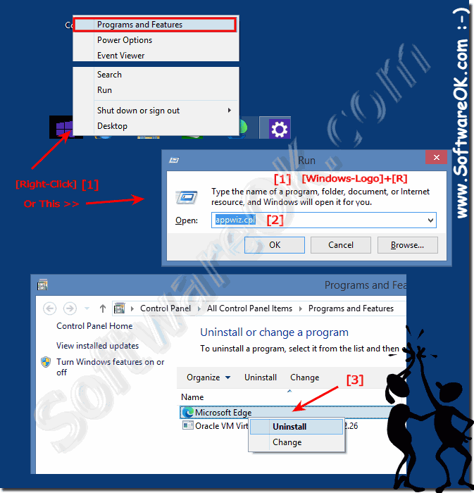 Uninstall programs in Windows 8 or customize
