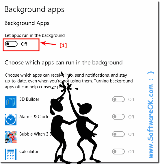 Disable all background apps under Windows 10!