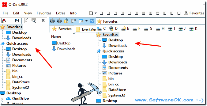 Auto-Expand of the windows quick access system folder!