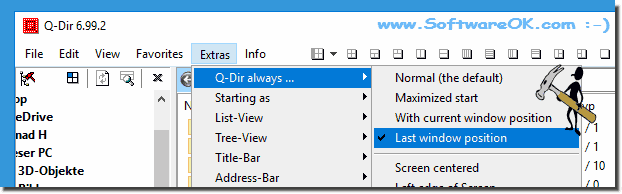 Keep Last Quad-Explorer Window Position!