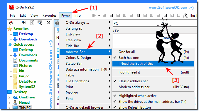 Tool-Bar and Address-Bar in Q-Dir Windows-8.1!