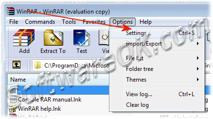 WinRAR Options Settings