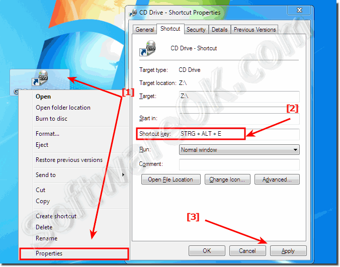 Eject the CD or DVD Drive via Keyboard Shortcut1