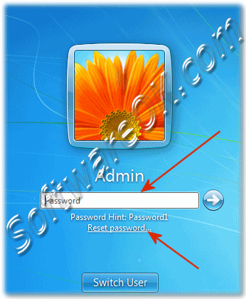 Use the password reset disk in Windows 7