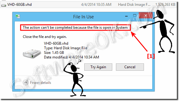 Can not delete a VHD file in Windows!