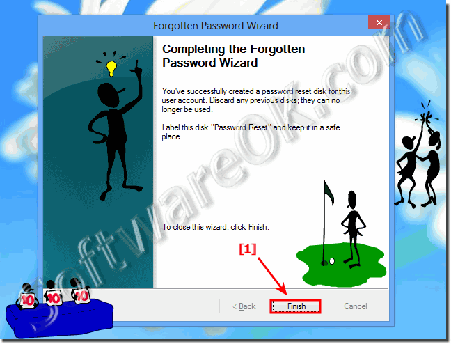 Completing the Windows Forgotten Password Wizard!