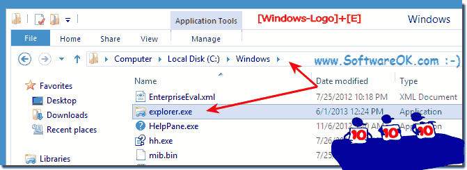 Find explorer.exe in Windows 8!
