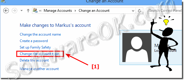 Manage Accounts and Change an Administrator Account Windows-8