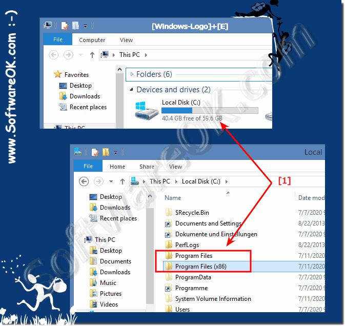 Program Files (x86) in Windows 8.1 x64 64-Bit!