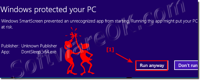 Run a downloaded program from Internet on Windows-8.1!