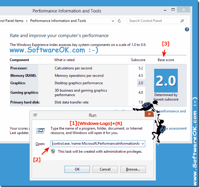 View or rating your computer Experience Index in Windows 8