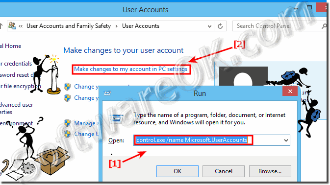 View use Accounts settings in Windows 8.1  and 8!