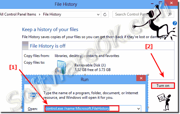 Windows 8 - Enable automatic backup to create File History