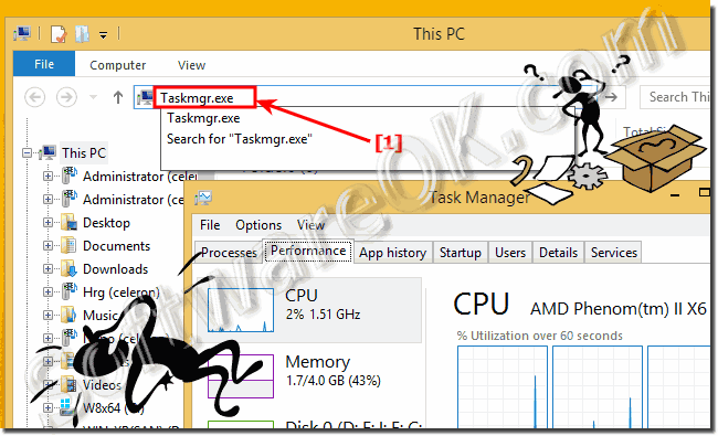 Windows Task Manager via MS-Explorer!