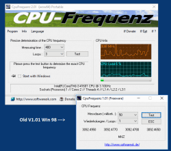 Identify the CPU frequency AMD, Intel, ...