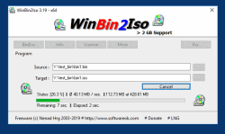 WinBin2Iso convert BIN to ISO images.